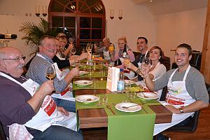 Kulinarische Woche Toscana_am tisch
